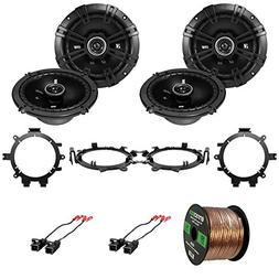 "4x Kicker 43DSC6504 6.5"" 240W 2-Way Speakers, 4x Metra Speak"