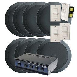 Pyle KTHSP85BK 4 Room In-Ceiling Home Speaker System w/4 Vol