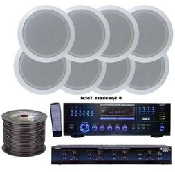 Pyle KTHSP85DV 4 Room Home In-Ceiling Speakers W/DVD/MP3 Amp