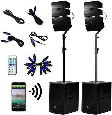 12 Inch Speaker Combo Set 4000 Watt Powered Pa Bluetooth Wir