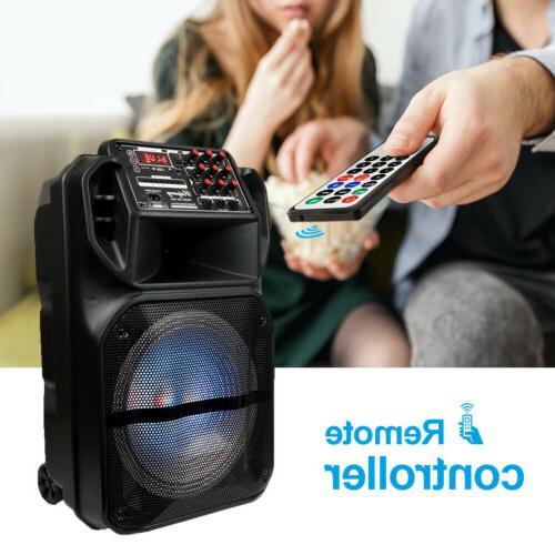 """Portable 15"""" Bluetooth Subwoofer Heavy Bass DJ AUX FM"""