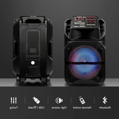 Portable Subwoofer Bass Party DJ System AUX FM