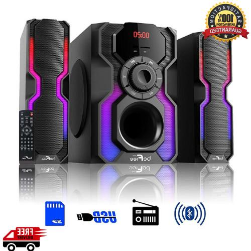 2 1 ch bluetooth wired led speaker