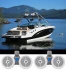 "2) Rockville DWB65W Dual 6.5"" Black 1200w Marine Wakeboard T"
