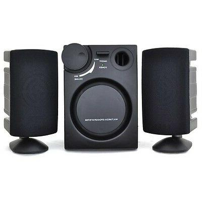 DCT Factory 3-Piece 2.1 Channel Subwoofer Speaker System