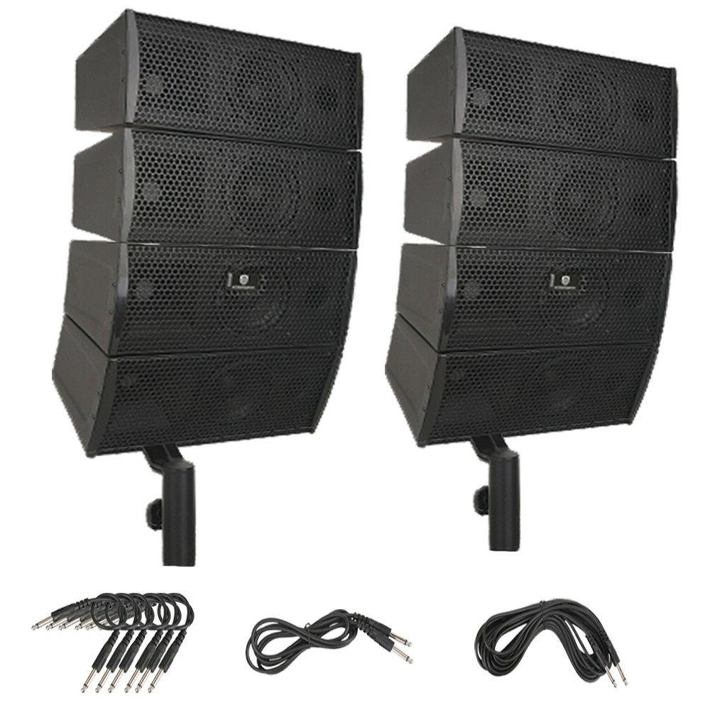 """PRORECK 4X4"""" Passive Line Array Speaker System Sets with Con"""