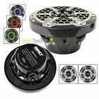 "6.5"" Marine Speaker System 2 Way RGB LED Light 375 Watts Max"