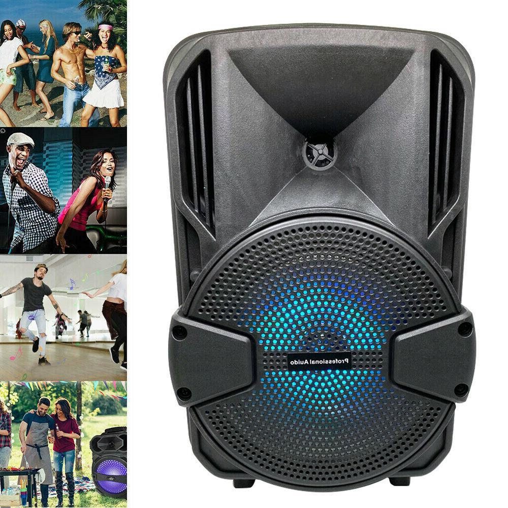 8'' FM Bluetooth Speaker Heavy Bass
