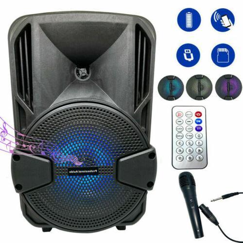 8'' Bluetooth Speaker Subwoofer Bass