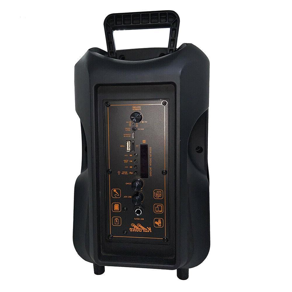 8'' Portable FM Speaker Bass