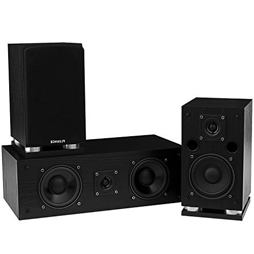 Fluance SXHTB-BK Surround 5.0 Channel including Floorstanding and Rear Speakers