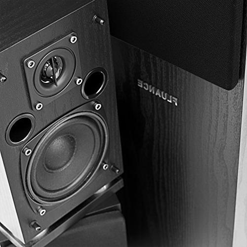 Fluance SXHTB-BK Surround Sound Theater 5.0 Speaker including Floorstanding Center and