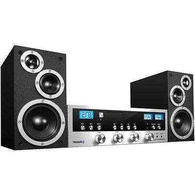 Home Stereo W Bluetooth CD Player Radio 33 FT Music Speakers