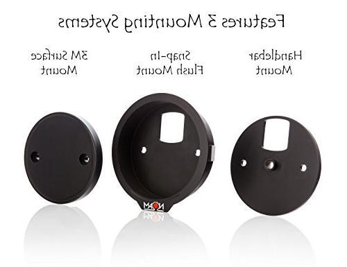 NOAM - Waterproof Motorcycle/ATV Chrome Speakers Stereo System
