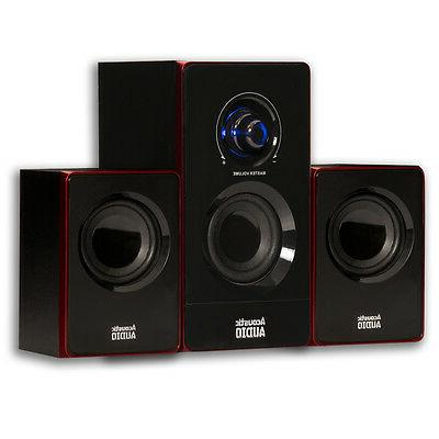 Acoustic Audio AA2103 Home 2.1 Speaker Multimedia Gaming