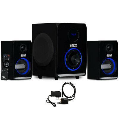 Acoustic Audio AA2105 Bluetooth 2.1 Speaker System LED Light