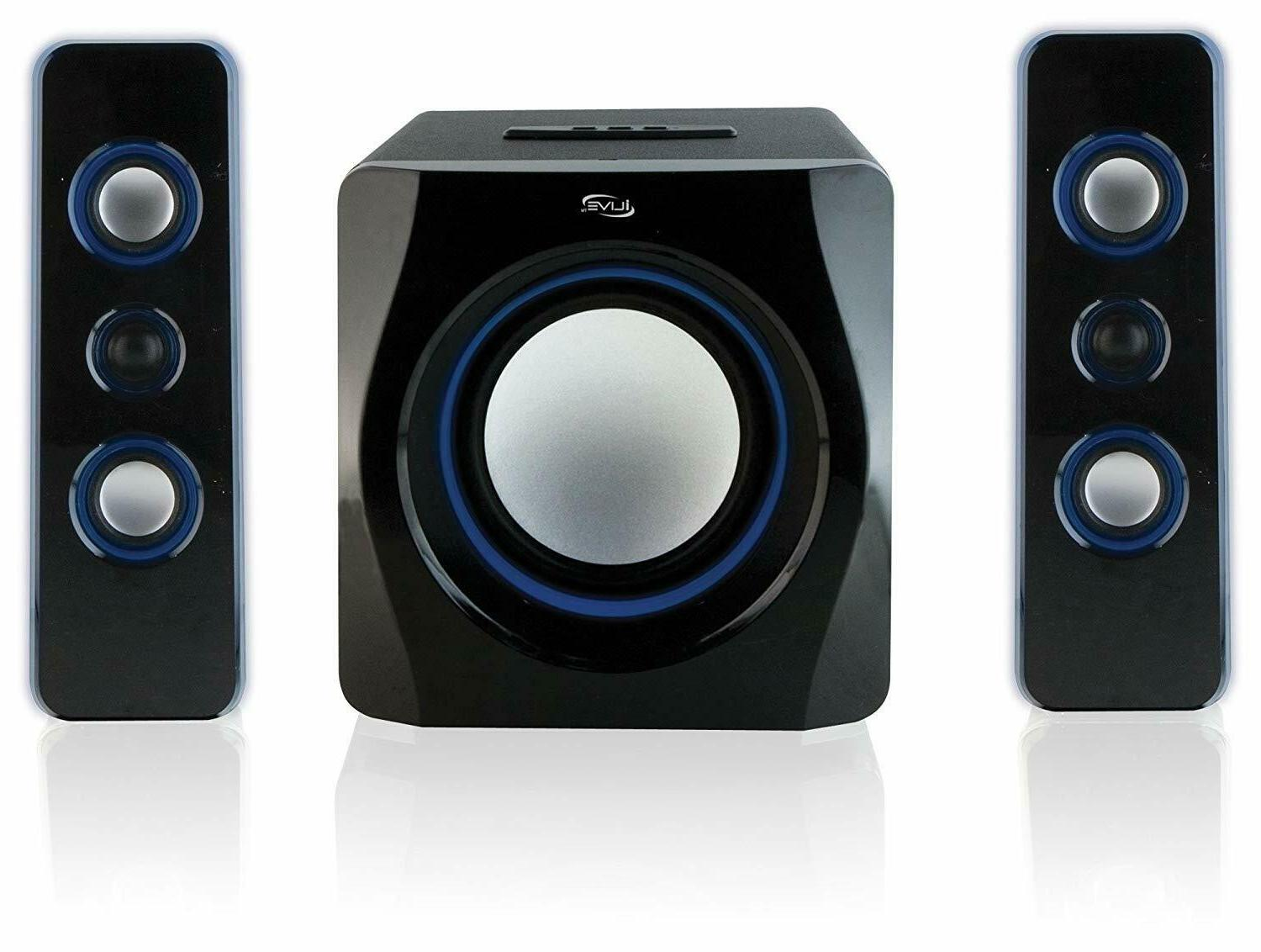 iLive Wireless 2.1 Channel Bluetooth Speaker System w/ Built