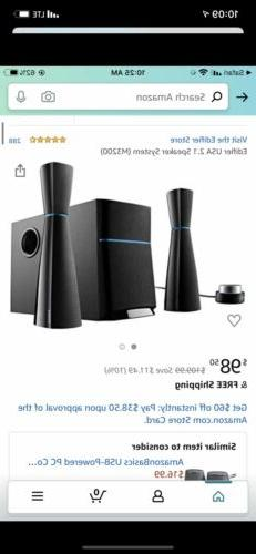 Bluetooth Edifier USA 2.1 Multimedia Speaker System with Sub