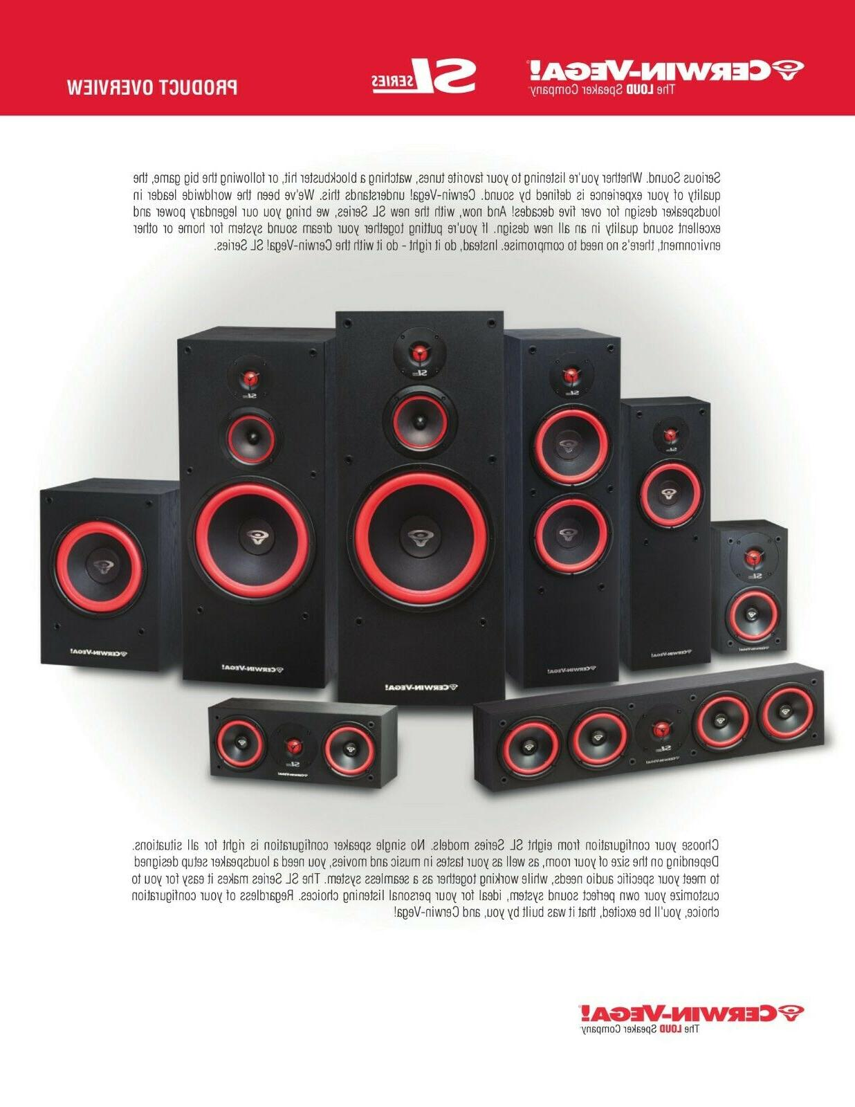 Cerwin-Vega SL Speaker System multi system select