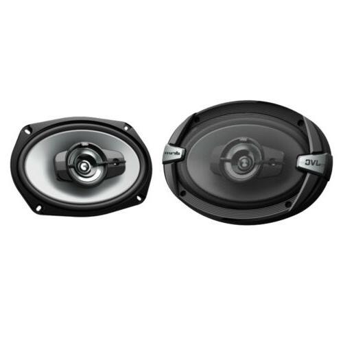 4x JVC 500w Stereo Enrock Speaker Wire