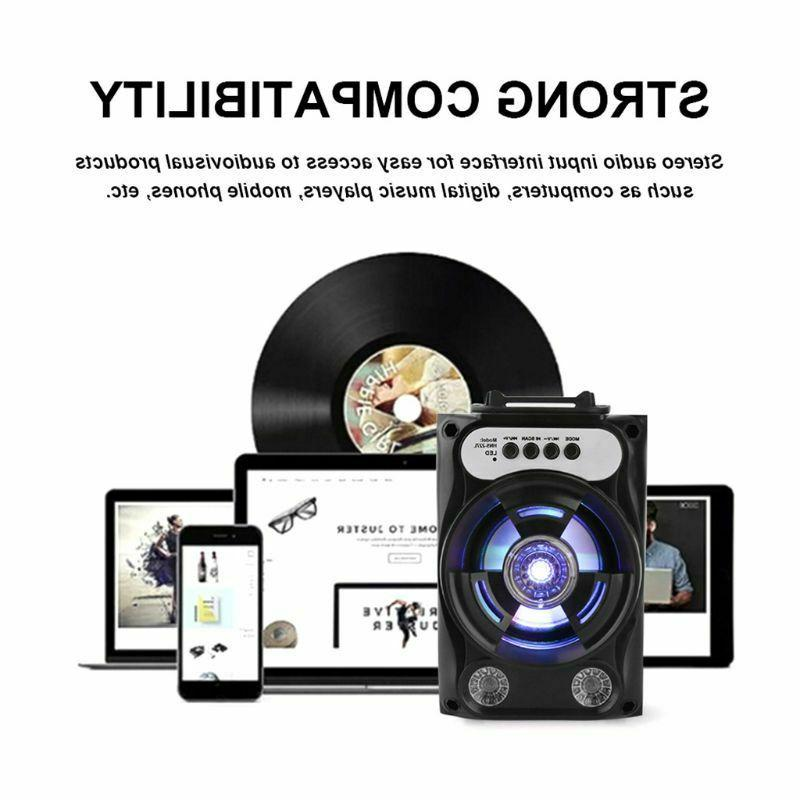 Compact Speaker Size Wireless Stereo LED