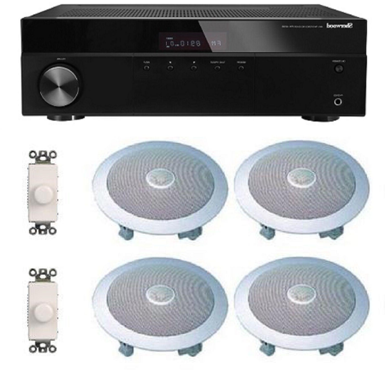 HOME AUDIO SOUND SYSTEM- FLUSH IN-CEILING SPEAKERS FOR 2+ RO