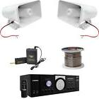 "Lavalier Mic System, PT110 Mono Amplifier, 8"" Horn PA Speake"