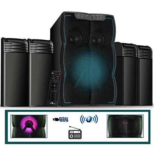 multimedia wired speaker shelf system