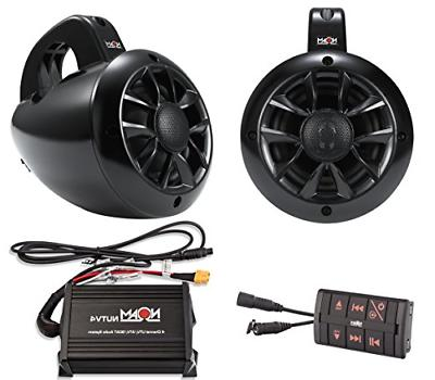 NOAM NUTV4 - Marine Bluetooth ATV/Golf Cart/UTV Speakers Ste