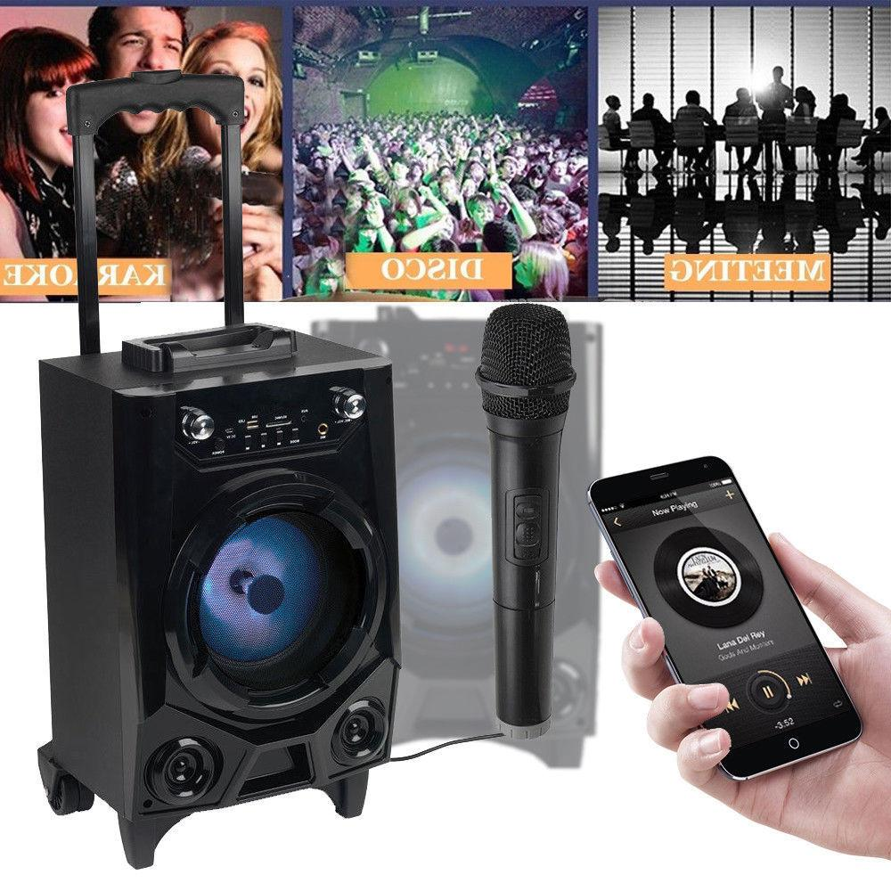 BT Party Bluetooth Big Led Stereo Tailgate Loud Mic