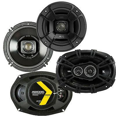"Polk Audio 6.5"" 300W Marine Speakers + Kicker D-Series 6x9"""