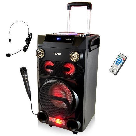 Portable PA Bluetooth Loudspeaker Speaker System Karaoke Mic