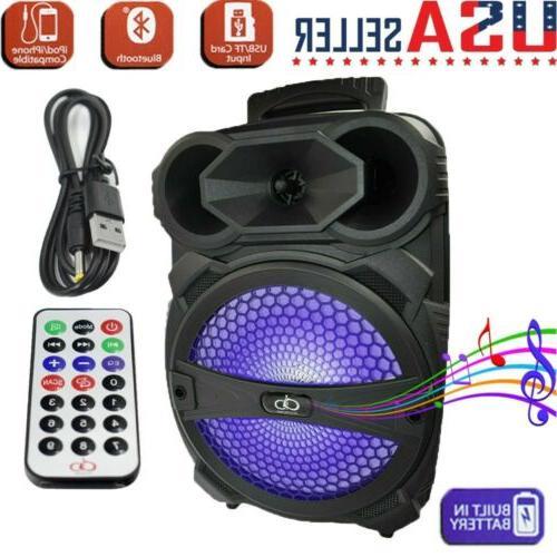 "12"" Portable Bluetooth Party DJ Karaoke PA Speaker 3000W Rec"