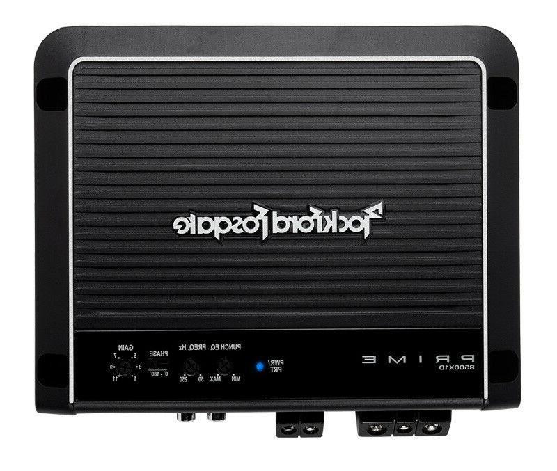 Rockford Fosgate R500X1D 1-Channel Car Prime 500 Watt Amplif