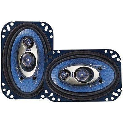 "Set of 2 PYLE  BLUE 4"" x 6"" 240 Watt CAR AUDIO STEREO 3 WAY"