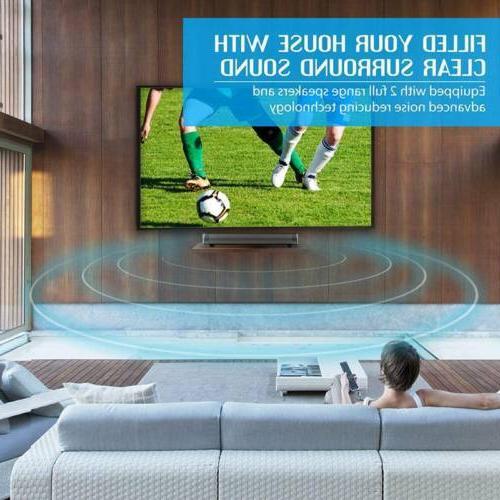 Surround Bar System Wireless Bluetooth 4.2 Subwoofer w/