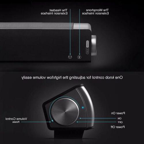Surround Sound Bar Speaker System Subwoofer w/