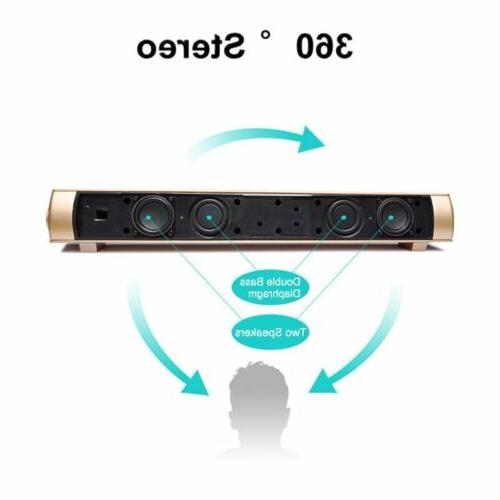 Surround Sound Bar System Wireless Bluetooth Subwoofer w/