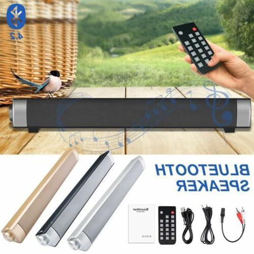 Surround Sound Bar System Wireless Bluetooth Subwoofer w/ Remoter