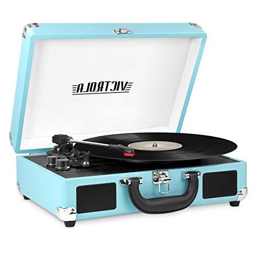 victrola vintage bluetooth suitcase turntable
