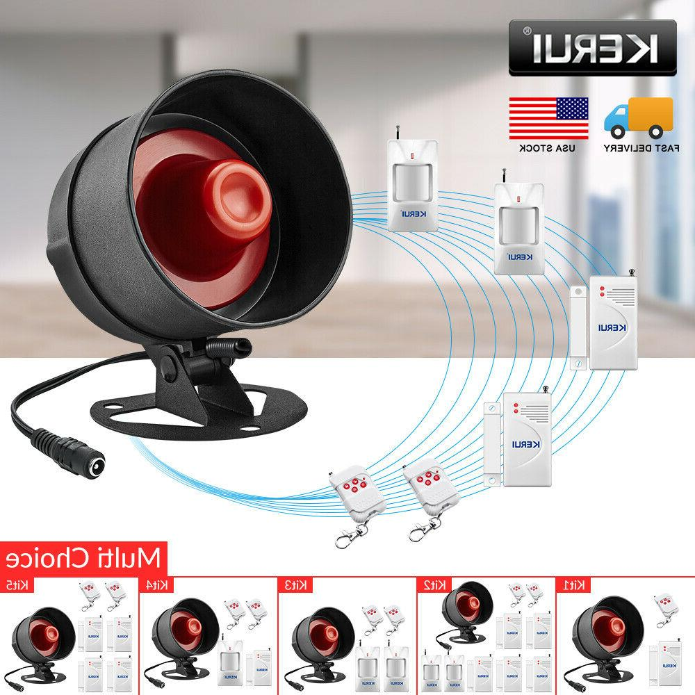 wireless burglar alarm system local siren speaker