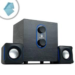 GOgroove 2.1 PC Gaming Speakers w/Subwoofer SonaVERSE LBr -