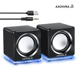 ARVICKA-LED Multimedia Speaker System Computer PC Desktop La