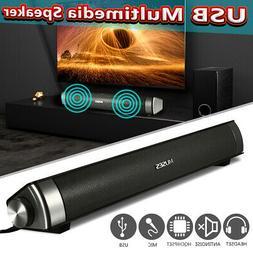 MIDAS 2.0 USB Multimedia Sound Bar Speaker System For PC Com