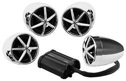 Boss Motorcycle/UTV Speaker and Amplifier System USB/SD/FM