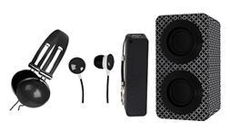 NAXA NAS3061ABLACK Portable Stereo Bluetooth Speaker Pack