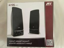 NEW ~ Cyber Acoustics CA-2014 Powered Speaker System ~New In