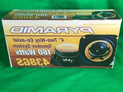 """New Old Stock Pyramid 438GS 4"""" Two Way Co Axial Speaker Syst"""