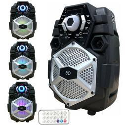 Party Speaker System Portable 3D Surround Subwoofer LED Ligh