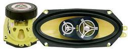 Pyle Car Three Way Speaker System - Pro 4x10 Inch 300 Watt 4